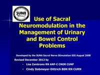 Use of Sacral Neuromodulation in the Management of Urinary and Bowel Control Problems