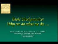 Basic Urodynamics: Introduction and Basic Principles of UDS