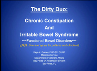 The Dirty Duo: Chronic Constipation and Irritable Bowel Syndrome