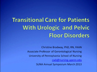 Transitional Care for Patients with Urologic and Pelvic Floor Disorders
