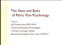 The Nuts and Bolts of Pelvic Pain Psychology