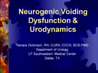 Urodynamics and Neurogenic Voiding Dysfunction