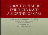 Overactive Bladder: Evidence-Based Algorithm of Care