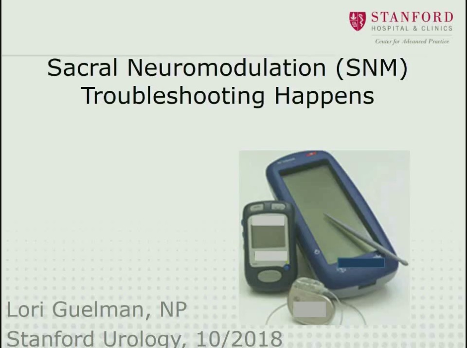 Sacral Nerve Stimulation Sns Programming And Troubleshooting