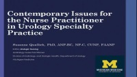 Contemporary Policy and Practice Issues for the Nurse Practitioner in Urology Specialty Practice