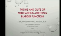 The Ins and Outs of Medications Affecting Bladder Function