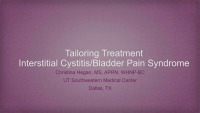 Tailoring Treatment for the Interstitial Cystitis/Painful Bladder Syndrome Patient
