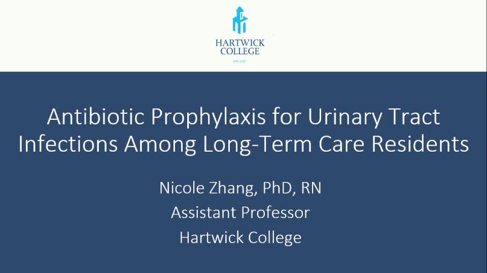 Antibiotic Prophylaxis for Urinary Tract Infections Among Long-Term Care Residents