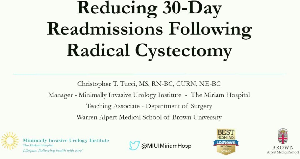 Reducing 30-Day Readmissions following Radical Cystectomy - Part 2