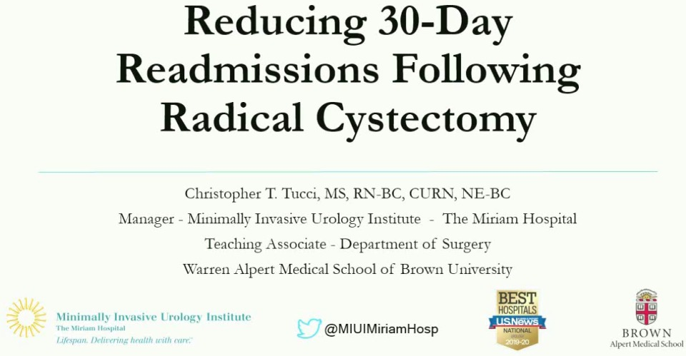 Reducing 30-Day Readmissions Following Radical Cystectomy - Part 1