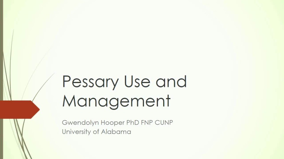 Pessary Use and Management