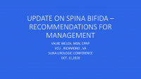 Update on Spina Bifida - Recommendation for Management