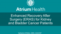 Enhanced Recovery After Surgery (ERAS) for Kidney and Bladder Cancer Patients