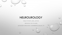 Neurourology: What You Need to Know