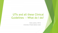 UTIs and all these Guidelines - What do I do?