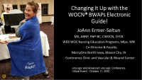 Body Worn Absorbent Products: Changing It Up with the WOCN Electronic Guide