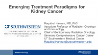 Emerging Treatment Paradigms for Kidney Cancer