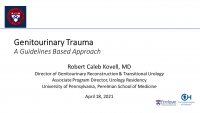 Urologic Trauma in 2021:  A Guidelines Based Overview