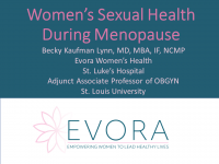 Women's Sexual Health During Menopause