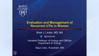 Evaluation and Management of Recurrent UTIs in Women
