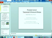 Advanced Practice Prostate Ultrasound Workshop