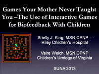 Games Your Mother Never Taught You - Pediatric Biofeedback and the Use of Interactive Games with Children