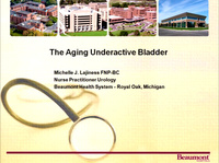 The Aging Underactive Bladder