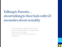 Talking to Parents...About Talking to Their Kids with GU Anomalies About Sexuality