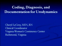 Linking Urodynamic Coding, Interpretation and Documentation