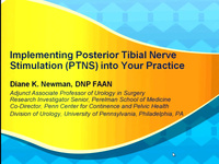 Implementing Posterior Tibial Nerve Stimulation (PTNS) into Your Practice