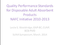Continence Products: NAFC Recommendations