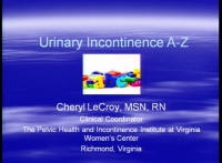 Urinary Incontinence A - Z