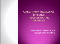 Sacral Neuromodulation Programming: Effective Troubleshooting Strategies
