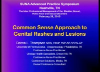 Common Sense Approach to Genital Rashes and Lesions