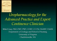 Pharmacology for the Advanced Practice and Expert Continence Clinician