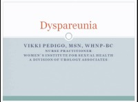 Dyspareunia: Evaluation, Diagnosis and Management