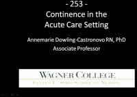 Continence in the Acute Care Setting