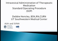 Intravesical Administration of Therapeutic Medication - A Standard Operating Procedure