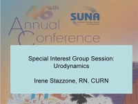 Special Interest Group Session: Urodynamics