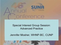 Special Interest Group Session:  Advanced Practice