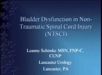Bladder Dysfunction with Non-Traumatic Spinal Cord Injury (NTSCI)