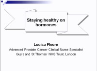 """Living Healthy on Hormones"": A Service Development to Improve Men's Experience and Knowledge of Androgen Deprivation Therapy (ADT) and Its Side Effects"