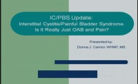 Interstitial Cystitis/Painful Bladder Syndrome - Is It Really Just OAB and Pain?