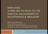 Mesh Madness: Where Are We Now on the Surgical Management of Incontinence and Prolapse?