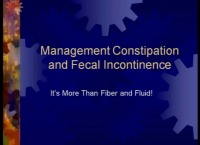 Management of Constipation and Fecal Incontinence in Inpatient and Outpatient Settings