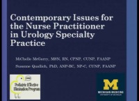 Contemporary Issues for the Nurse Practitioner in Urology Specialty Practice