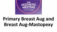 8. Primary Breast Augmentation and Breast Augmentation-Mastopexy: Choosing the Right Operation - 2 CME credits