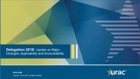 URAC's Delegation Standards: Update on Major Changes, Applicability and Accountability
