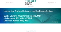 Integrating Telehealth Across the Healthcare System