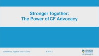Stronger Together: The Power of CF Advocacy